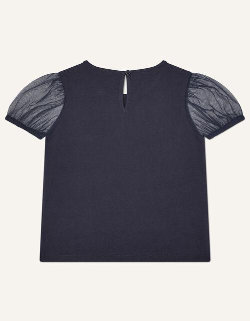 Sequin Swan T-Shirt, Blue (NAVY), large
