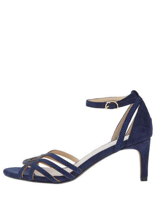Hatty Gem Sandals, Blue (NAVY), large