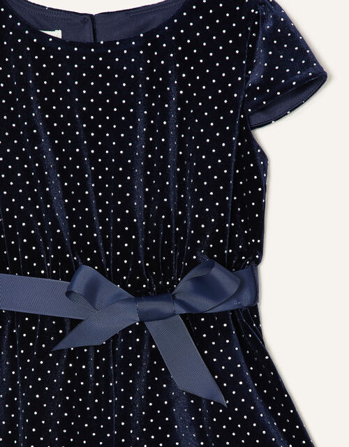 Nora Studded Velvet Playsuit, Blue (NAVY), large