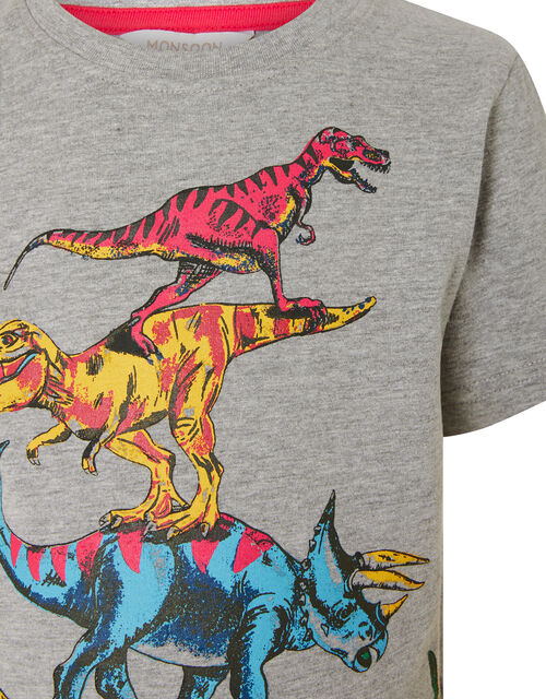 Rufus Dinosaur T-shirt, Grey (GREY), large