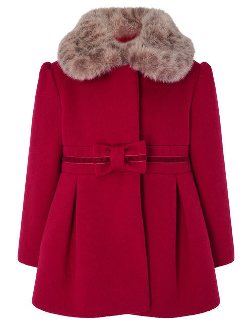 Baby Bow Coat, Red (RED), large
