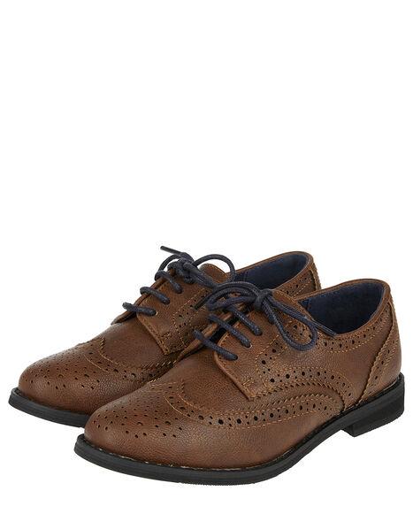 Brogue Shoes Brown, Brown (BROWN), large
