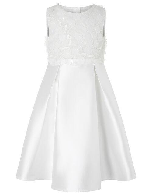 Anika Floral Bodice Dress, Ivory (IVORY), large