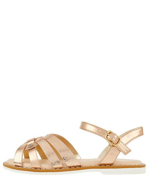 Giya Metallic Sandals, Gold (ROSE GOLD), large