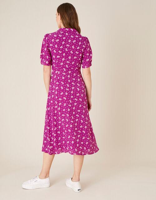 Abril Printed Tie Detail Dress , Pink (PINK), large