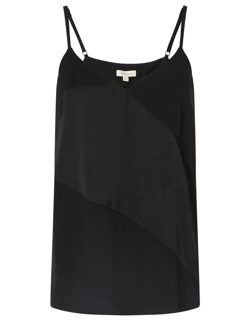 Satin Cami Top with LENZING™ ECOVERO™ , Black (BLACK), large
