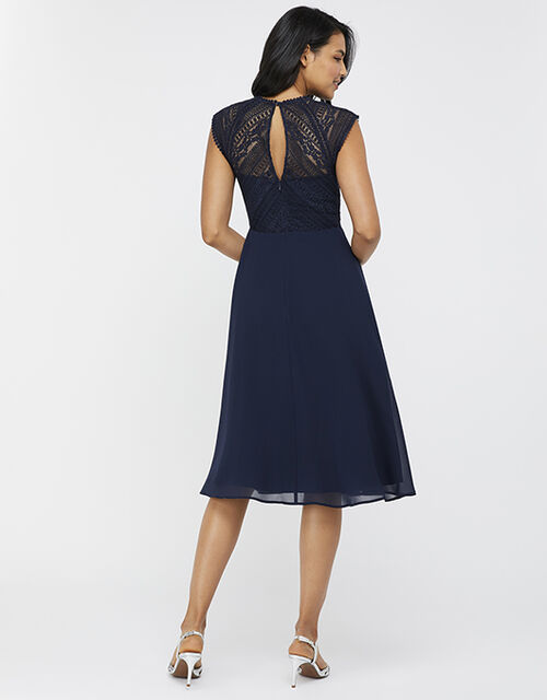 Lolita Lace Midi Dress, Blue (NAVY), large