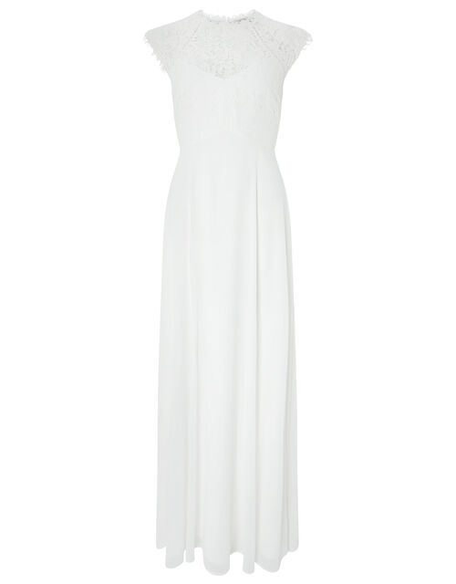 Lilian Bridal Lace Maxi Dress, Ivory (IVORY), large