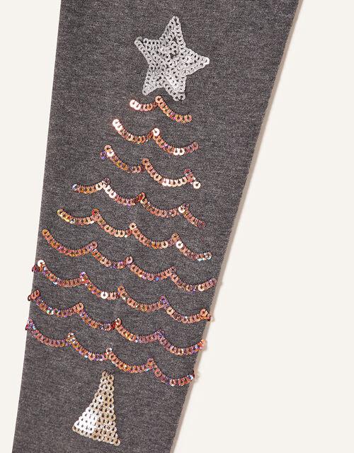 Christmas Tree Leggings, Grey (CHARCOAL), large
