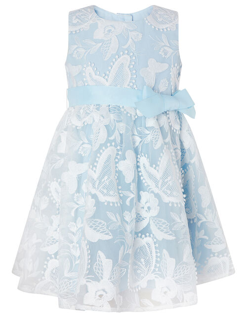 Baby Sophia Embroidered Butterfly Dress, Blue (BLUE), large