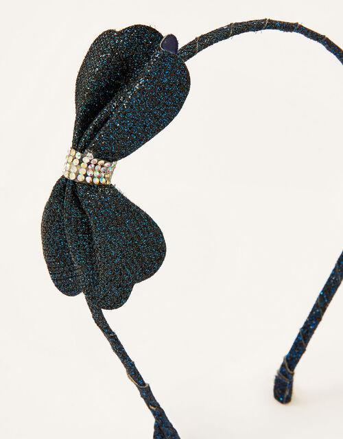 Glitter Bow Bag and Headband Set, , large