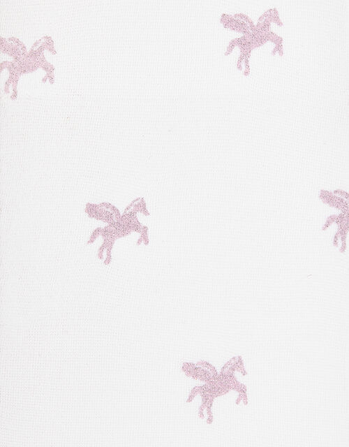 Girl 2 Pack Sparkly Unicorn Tights, Pink (PINK), large