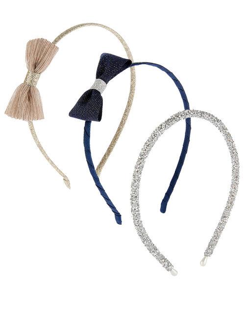 Glitter Bow Headband Set, , large