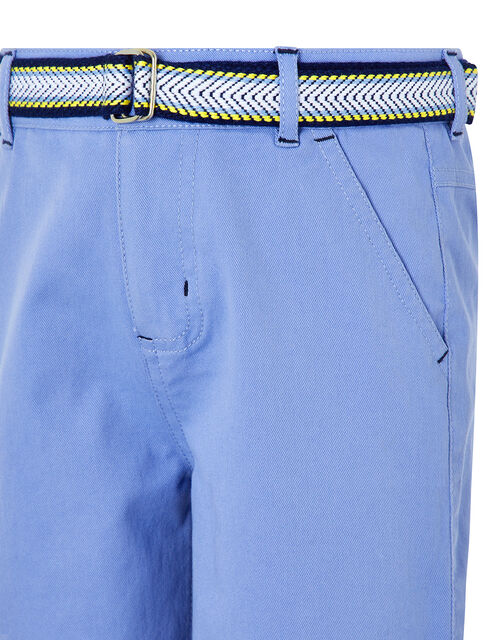 Blake Blue Shorts and Belt Set, Blue (BLUE), large