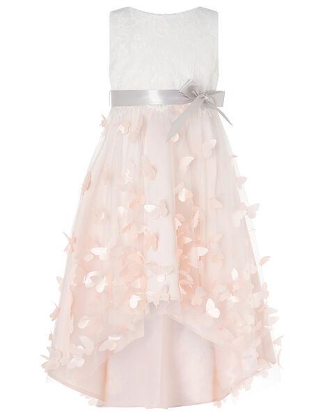 Flutter Butterfly Hi-Low Dress Pink, Pink (PALE PINK), large