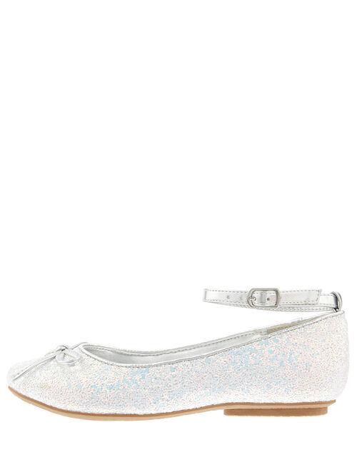 Anya Glitter Ballerina Shoes, Blue (BLUE), large