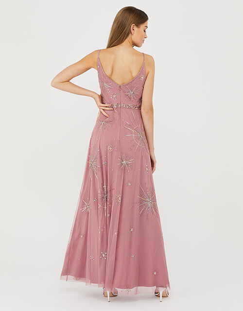Arabella Star Embellished Maxi Dress, Pink (PINK), large