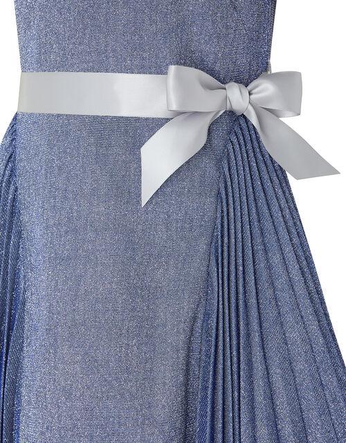 Mercury Metallic Dress, Blue (BLUE), large