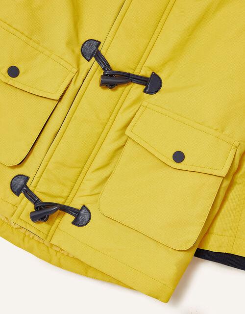 Duffle Parka Coat, Yellow (MUSTARD), large