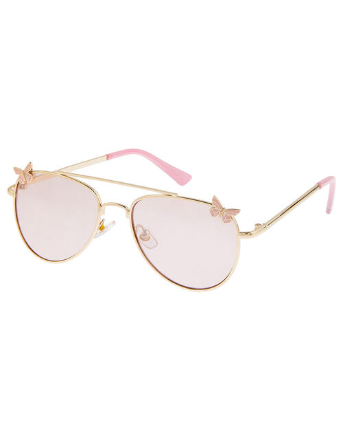 Butterfly Aviator Sunglasses, , large
