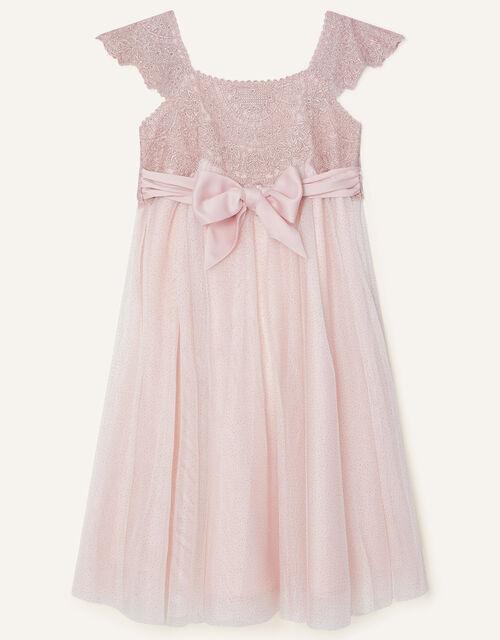 Estella Shimmer Dress, Pink (PINK), large