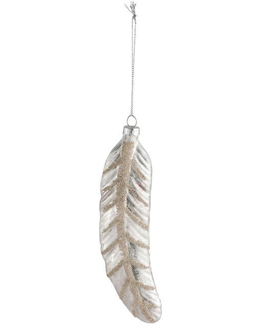 Feather Christmas Hanging Decoration, , large