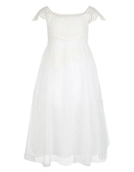 Estella Lace Bodice Occasion Dress Ivory, Ivory (IVORY), large