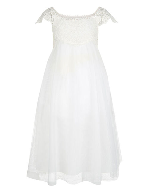 Estella Lace Bodice Occasion Dress, Ivory (IVORY), large