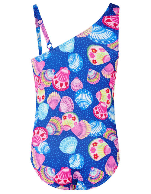 Shell Print Belted Swimsuit, Multi (MULTI), large