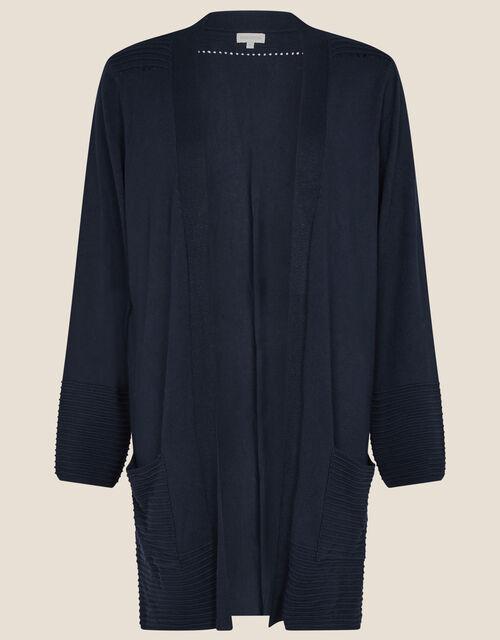 Olips Ottoman Stitch Cardigan, Blue (NAVY), large