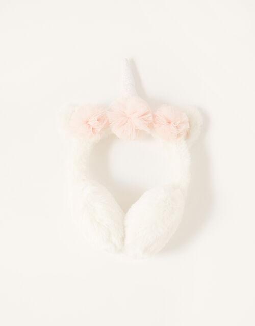 Sparkle Unicorn Fluffy Earmuffs, , large