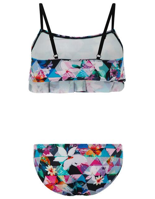 Eliza Bold Floral Bikini Set with Recycled Polyester, Black (BLACK), large