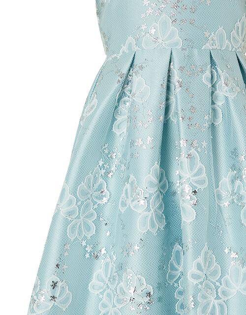 Nora Metallic Lace Dress, Blue (BLUE), large