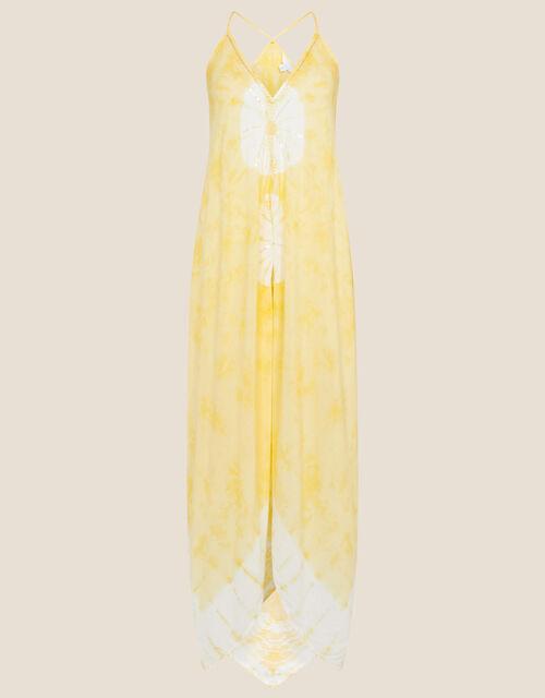 Kali Tie Dye Hanky Hem Dress , Yellow (YELLOW), large