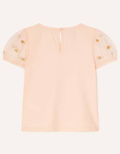 Sequin Collar T-Shirt, Nude (NUDE), large