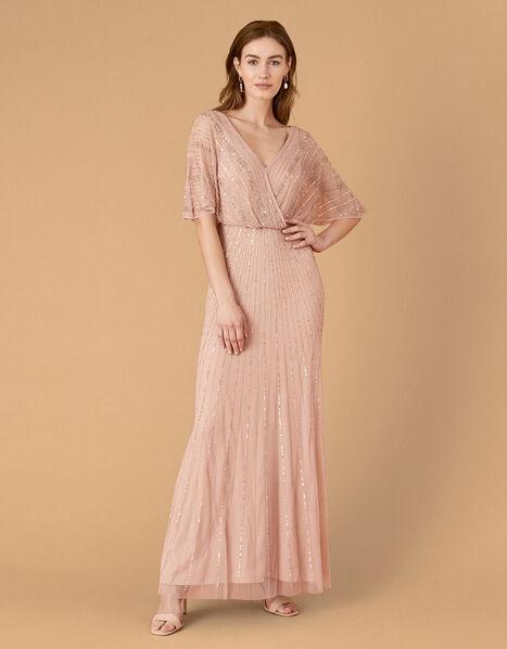 ARTISAN Alex Embellished Wrap Dress  Pink, Pink (PINK), large