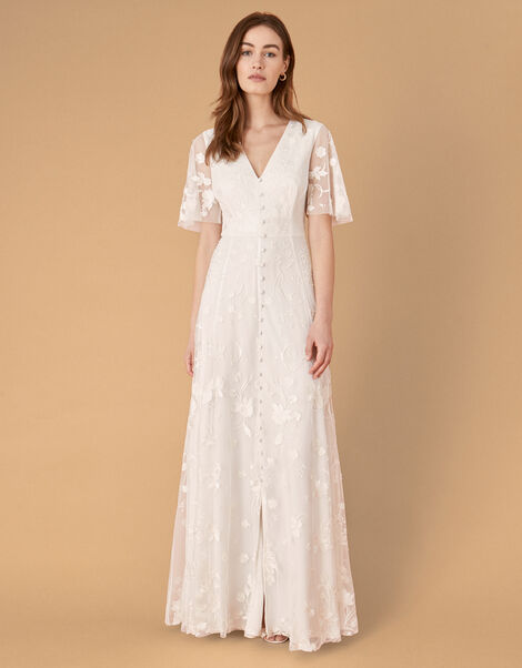 Tanja Floral Embroidered Bridal Dress Ivory, Ivory (IVORY), large