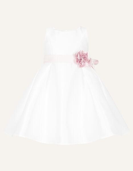 Baby Audrey Duchess Twill Dress Ivory, Ivory (IVORY), large