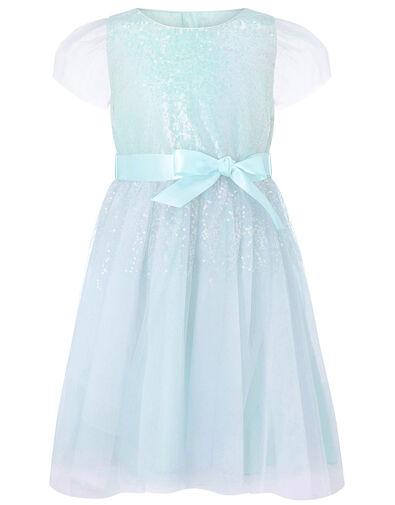 Sequin Shimmer Dress Blue, Blue (PALE BLUE), large