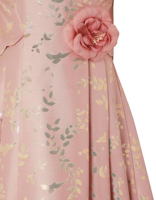 Sadie Metallic Jacquard Dress, Pink (PINK), large