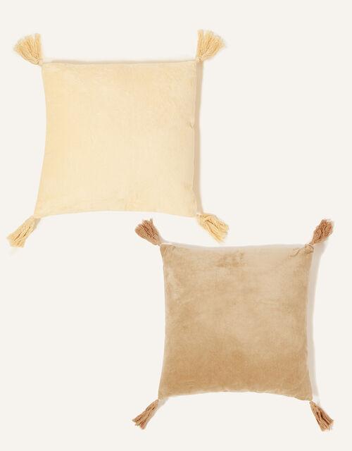 Velvet Tassel Cushion Set, , large