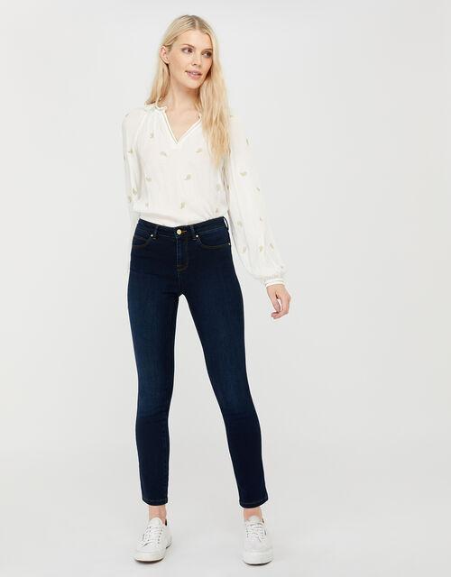 Azura Premium Short-Length Jeans, Blue (BLUE/BLACK), large
