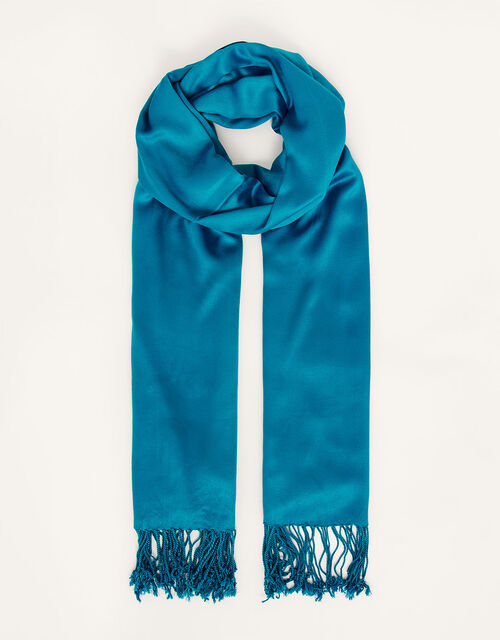 Ola Lightweight Occasion Scarf, Teal (TEAL), large