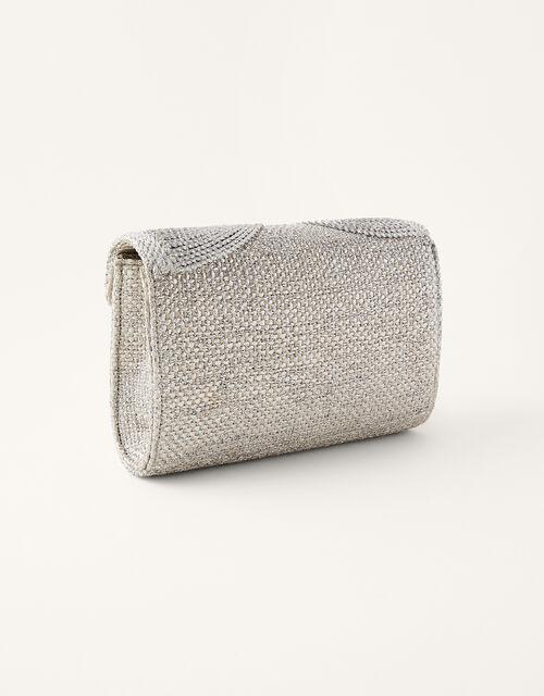 Metallic Rope Envelope Clutch Bag , , large