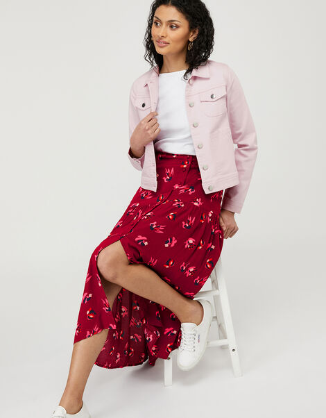 Elda Denim Jacket with Organic Cotton Purple, Purple (LILAC), large