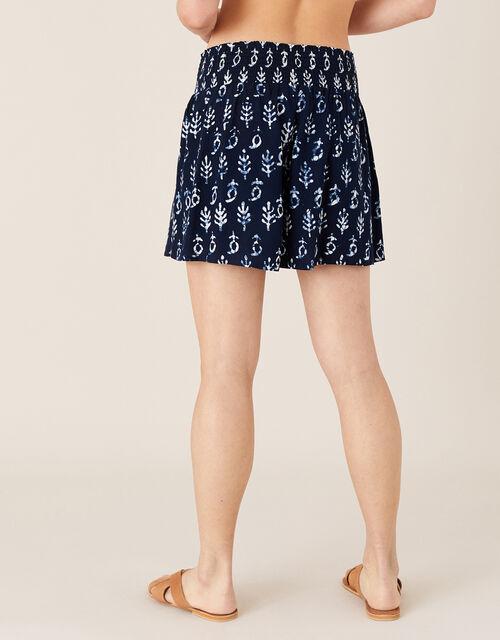 ARTISAN STUDIO Batik Print Shorts, Blue (NAVY), large