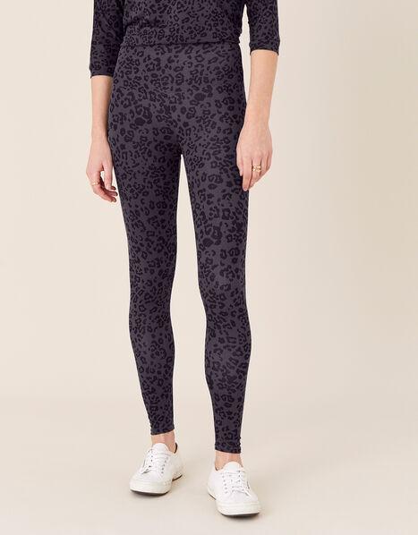 LOUNGE Animal Print Leggings Grey, Grey (GREY), large