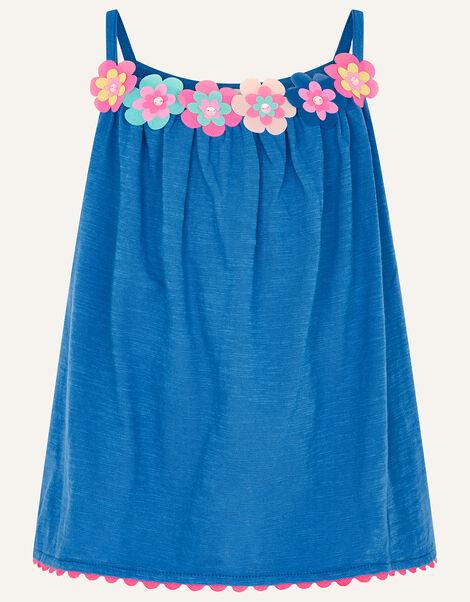 Fiesta Flower Cami  Blue, Blue (BLUE), large