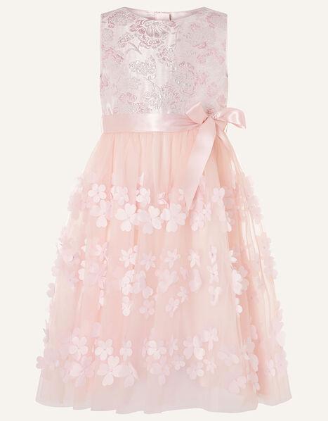 Jacquard Petal Dress Pink, Pink (PINK), large