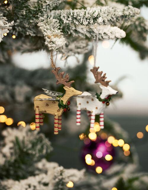 Wooden Reindeer Decoration Set, , large